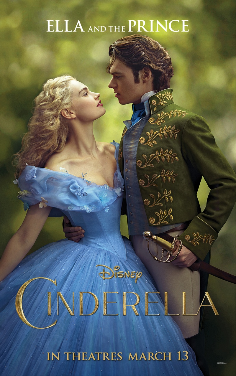 Lily James and Richard Madden on Cinderella (2015) movie poster.