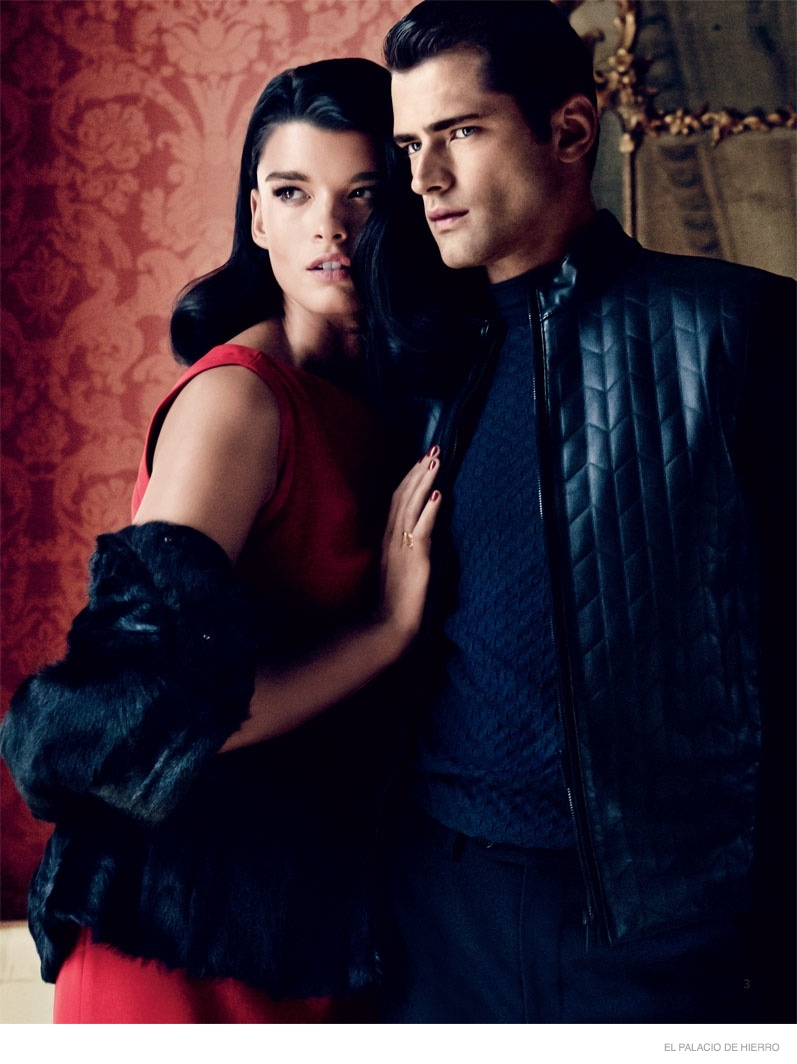 Crystal Renn Cozies Up to Sean O'pry in Palacio de Hierro Holiday Catalogue