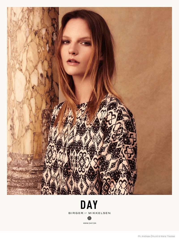 Sara Blomqvist Fronts Dreamy Day Birger et Mikkelsen Spring 2015 Ads