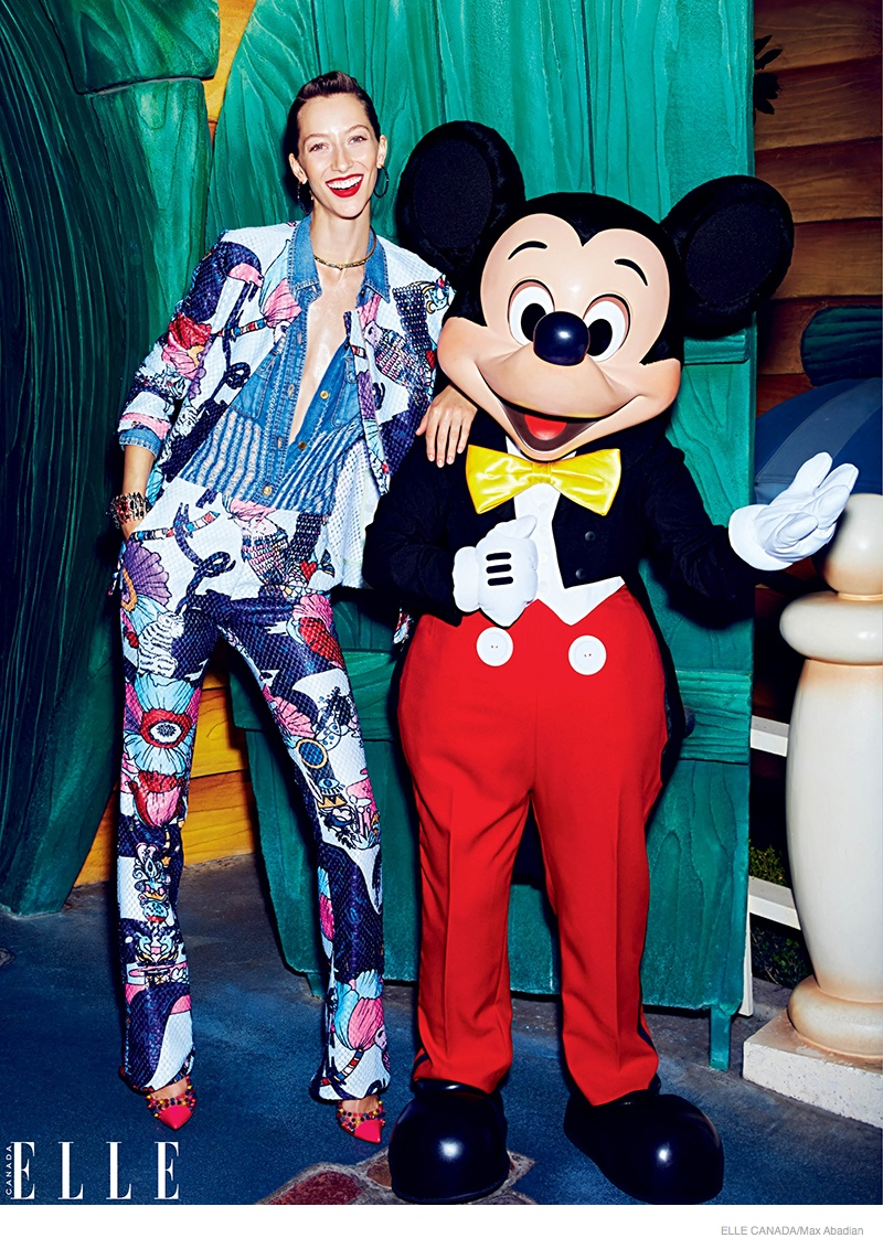 Alana Zimmer Poses at Disneyland for Elle Canada Cover story