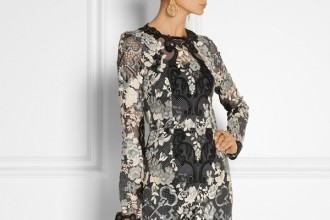 Dolce & Gabbana Floral lace midi dress available at Net-a-Porter for $4,547