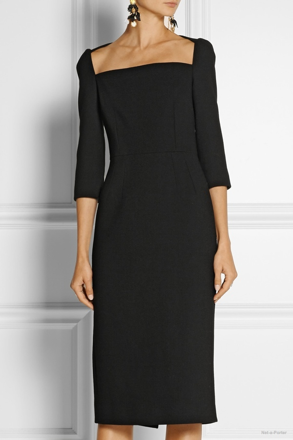 Dolce & Gabbana Stretch-wool midi dress available at Net-a-Porter for $1,662.50