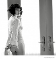 Evangeline Lilly Poses in Lingerie for Esquire Magazine