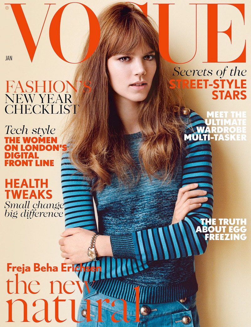 Freja Beha Erichsen Lands 5th Vogue UK Cover