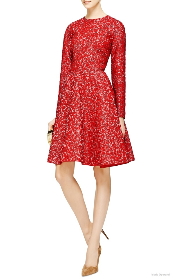 giambattista-valli-a-line-cloque-dress-red