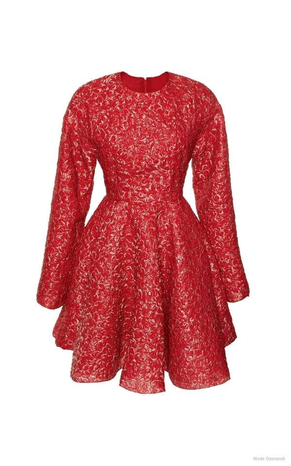 giambattista-valli-a-line-cloque-dress-red3