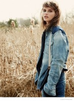 Denim Days: Giedre Dukauskaite Poses for Hilary Walsh in Glamour France