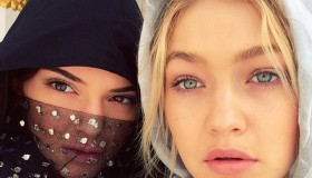 Models Gigi Hadid and Kendall Jenner share an image from Dubai wearing covered looks while visiting a mosque earlier in the week.