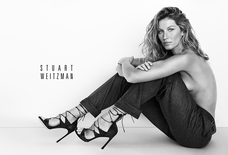 Gisele Bundchen Goes Topless for Stuart Weitzman's Spring 2015 Ads