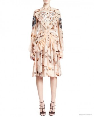 givenchy-long-sleeve-butterfly-print-silk-dress1