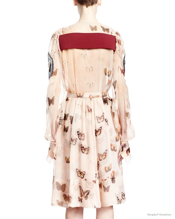 givenchy-long-sleeve-butterfly-print-silk-dress2