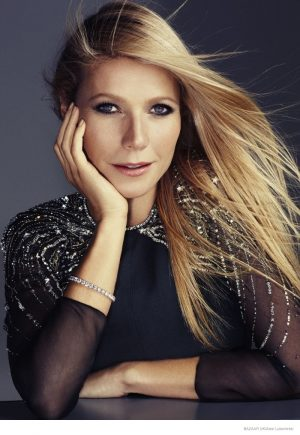 Gwyneth Paltrow Wears All Black for Harper's Bazaar UK