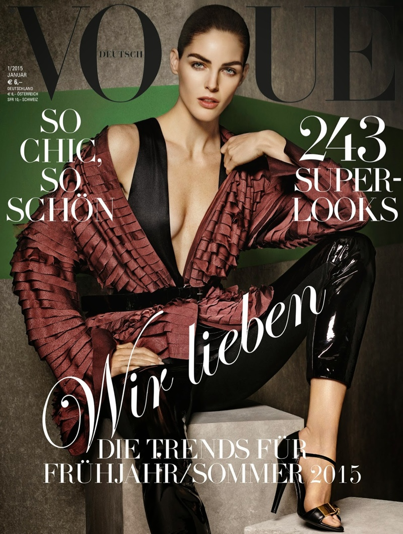 Karmen, Andreea & Hilary Land Vogue Germany January 2015 Covers