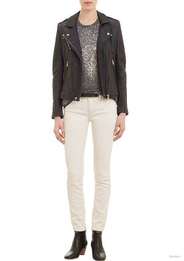 Iro Leather Biker Jacket available for $499.00