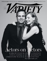 Jessica Chastain is All Smiles on Variety Cover, Poses with Mark Ruffalo