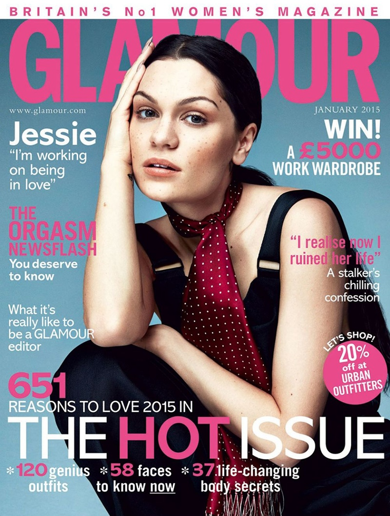 "Jessie J Covers Glamour UK, Talks ""Bang Bang"""