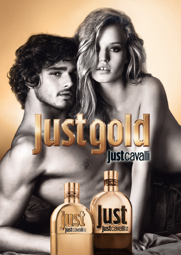 Georgia May Jagger Goes Topless in 'Just Gold' Cavalli Fragrance Ad