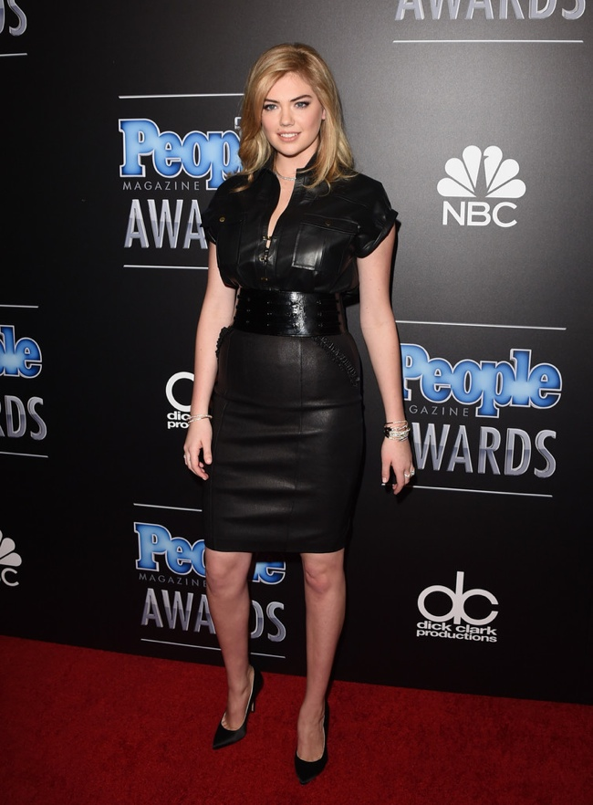 Kate Upton Looks Lovely in Leather, Wins Sexiest Woman at 2014 People Magazine Awards