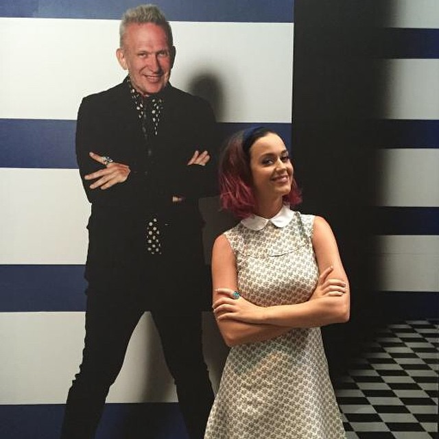 Pop star Katy Perry debuted her purple hairstyle while on tour in Australia. Photo: Instagram