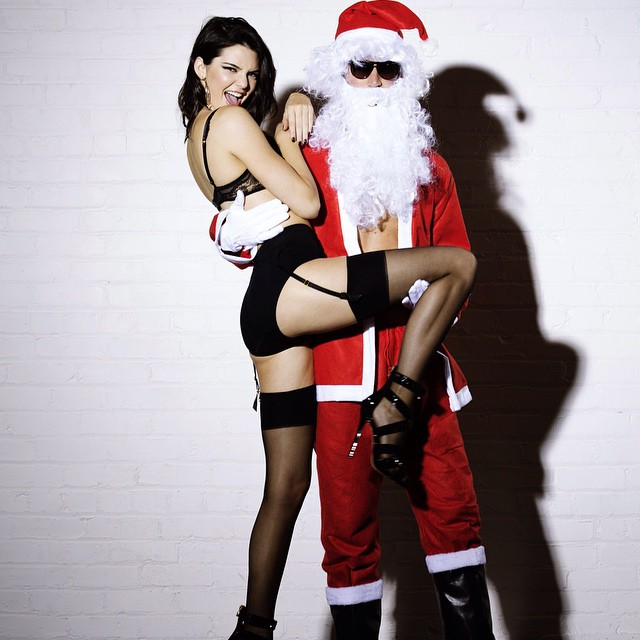Kendall Jenner Plays Santa's Scantily Dressed Helper in LOVE Film