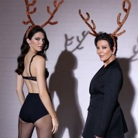 Kendall & Kris Jenner Dance in Reindeer Antlers for LOVE Advent Video