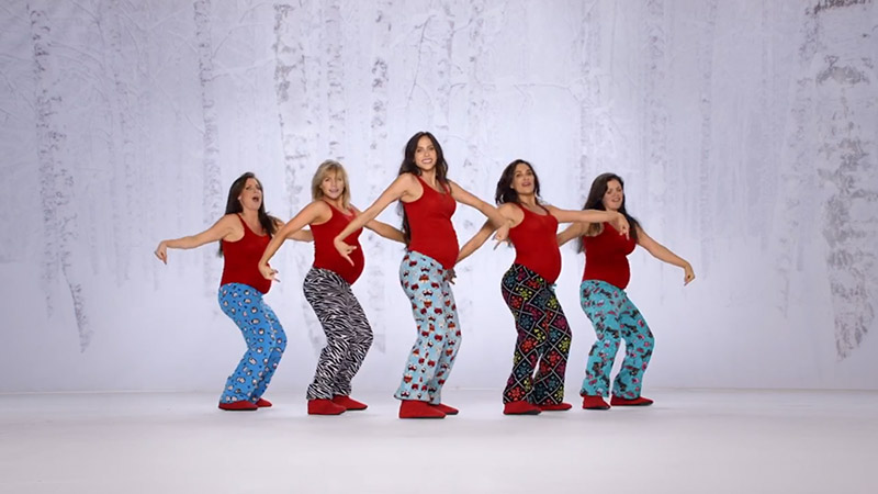 "Watch Pregnant Women Dance to ""Santa Baby"" for Kmart Commercial"