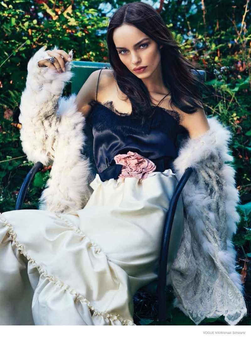 Luma Grothe Wears Dreamy Dresses for Vogue Mexico by Michael Schwartz