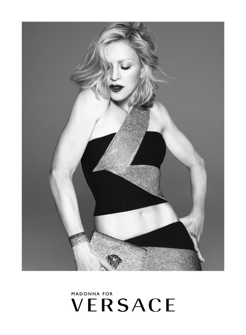 After 10 Years, Madonna is Back for Versace's Spring 2015 Ads