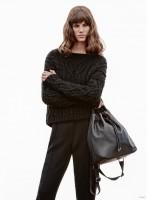 Antonina Petkovic Wears Mango's Winter Sweaters