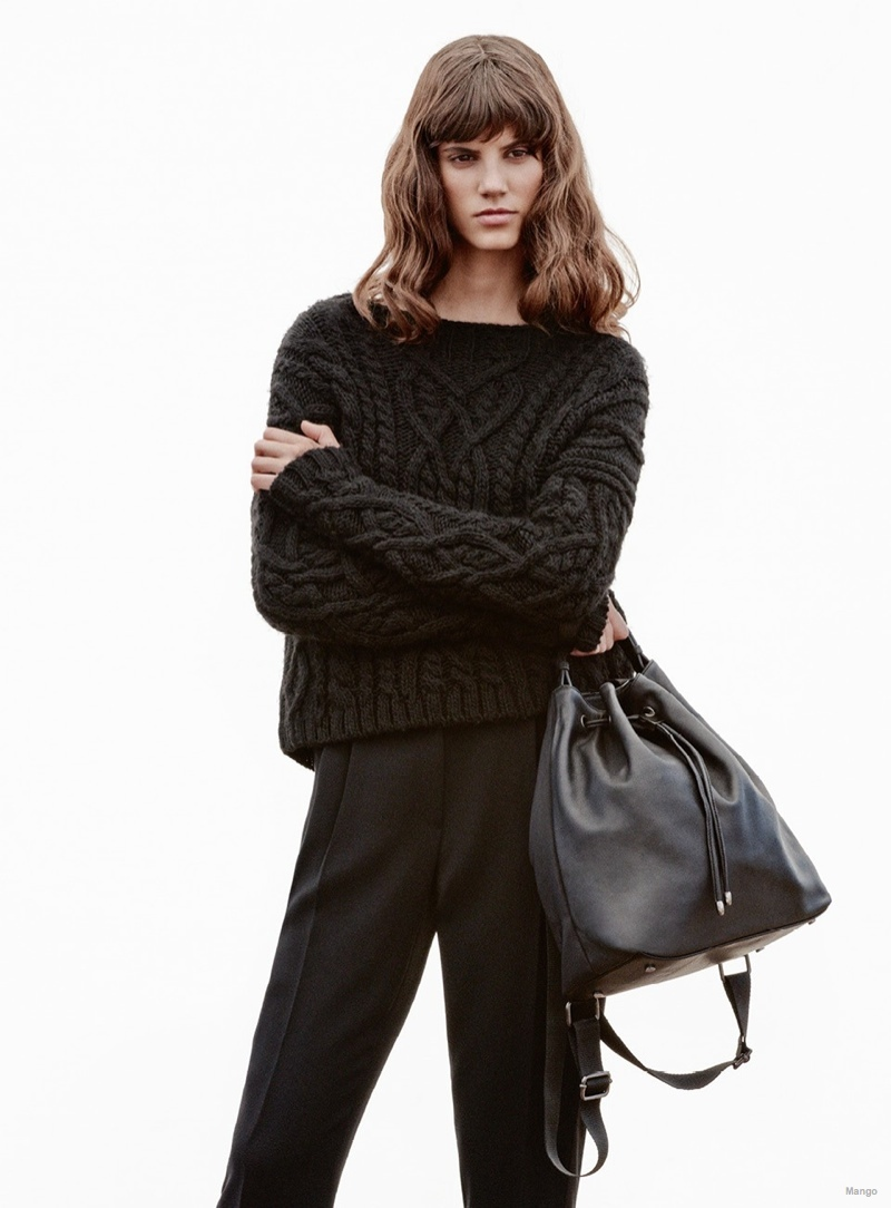 Antonina Petkovic Wears Mango's Winter Sweaters