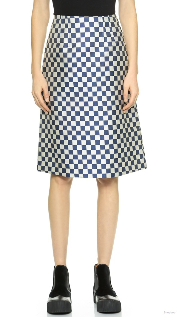 Marc by Marc Jacobs Checkerboard Jacquard Skirt
