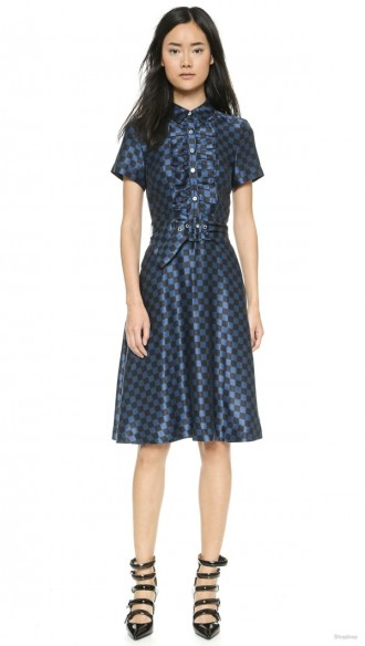 Marc by Marc Jacobs Checkerboard Silk Dress