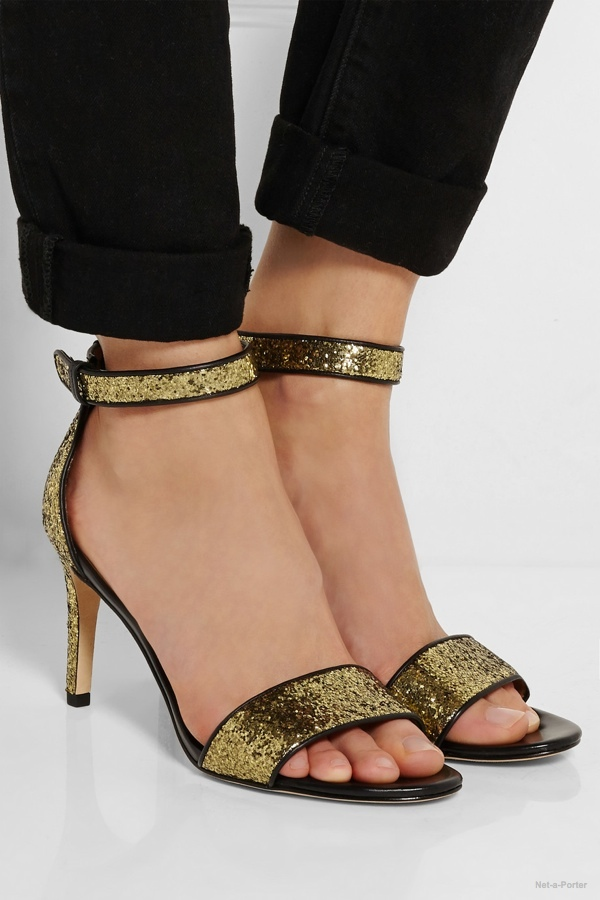 Marc by Marc Jacobs Glitter-finished leather sandals available at Net-a-Porter for $300