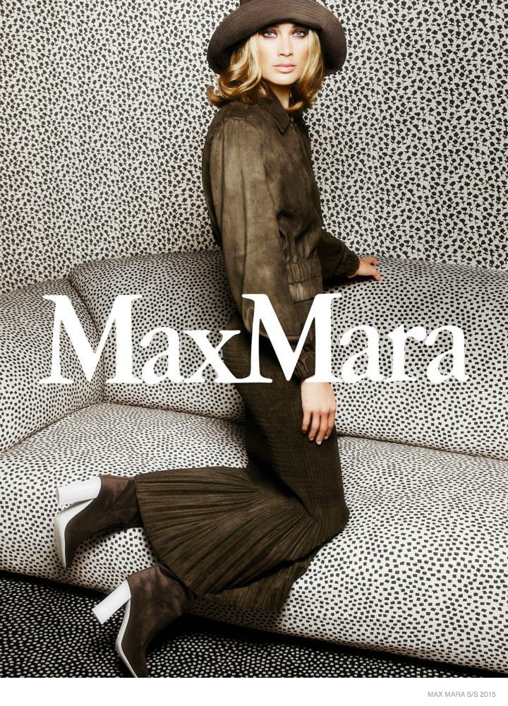 Carolyn Murphy Has Us Seeing Spots in Max Mara's Spring '15 Ads
