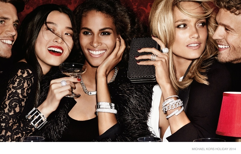 michael kors holiday 2014 ad campaign photos01 Michael Kors Gets Glam with Holiday 2014 Campaign