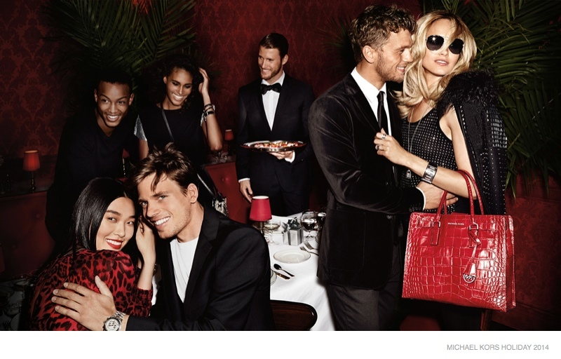michael kors holiday 2014 ad campaign photos05 Michael Kors Gets Glam with Holiday 2014 Campaign