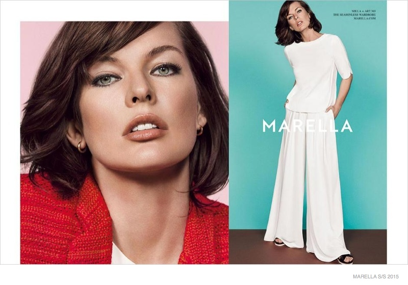 Milla Jovovich is Perfectly Ladylike in Marella's Spring 2015 Ads