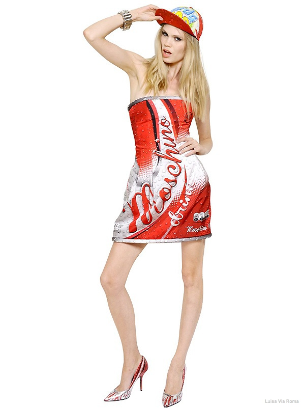 Moschino Cola Printed Bustier Dress available at Luisa Via Roma for $2695