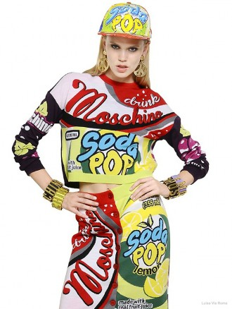 Moschino Soda Intarsia Wool Sweater available at Luisa Via Roma for $825
