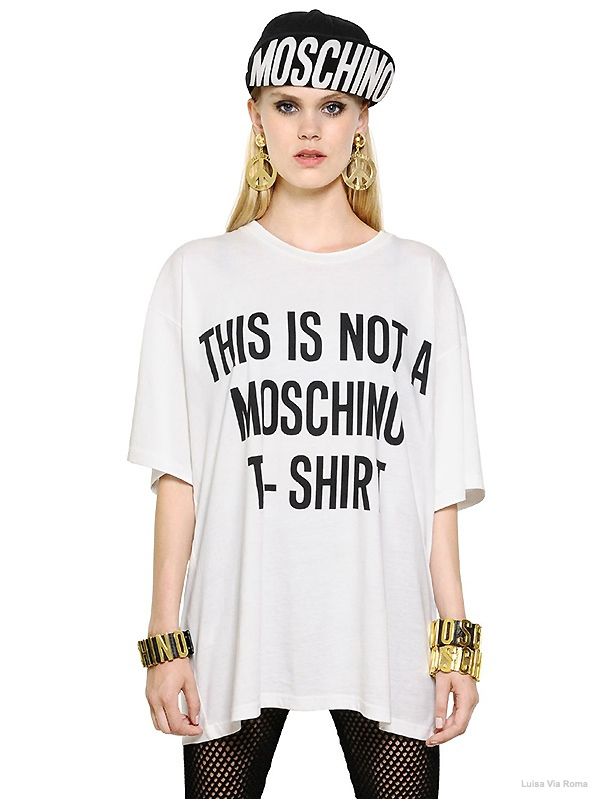 Moschino 'This is Not a Moschino T-Shirt' Shirt available at Luisa Via Roma for $295