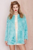 Nasty Gal Candy Flip Faux Fur Coat available for $47.60