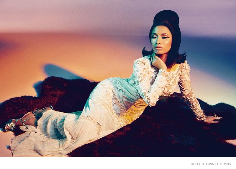 Nicki Minaj Serves Glamour in Roberto Cavalli Spring '15 Ads
