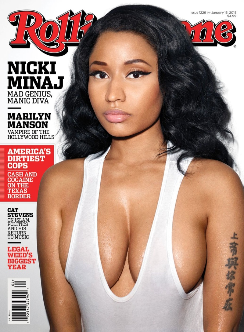 Nicki Minaj Wears Wet Tank Top on Rolling Stone Cover