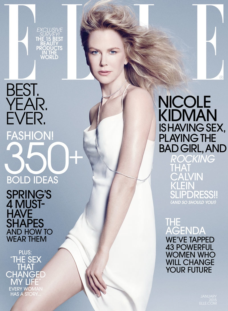 The January 2015 issue of ELLE US features actress Nicole Kidman on the cover.