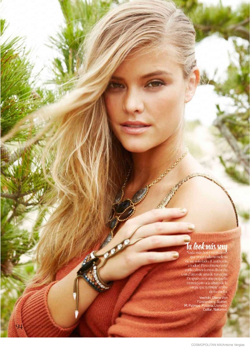Nina Agdal Poses at the Beach for Sweet & Sexy Cosmopolitan Mexico Shoot