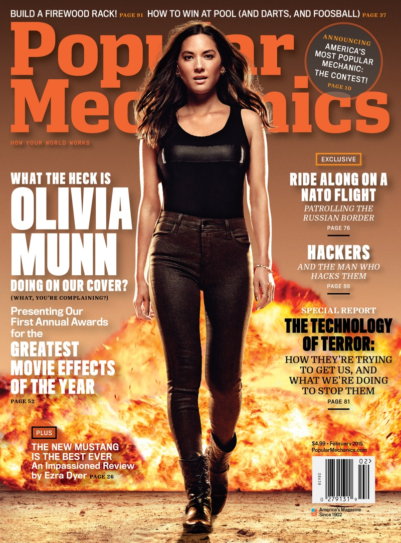 "Olivia Munn is On Fire for Popular Mechanics Cover, Talks ""Mortdecai"" Role"