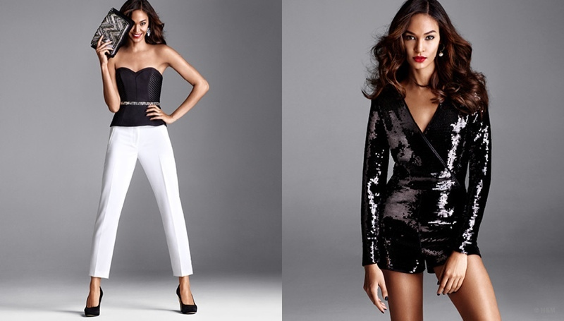 Joan Smalls Gets Glam In Party Style For H Amp M Fashion