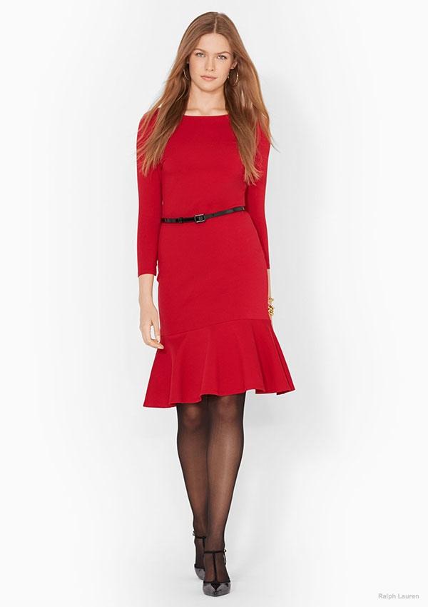 Lauren Ralph Lauren Belted Peplum Dress available for $114.99