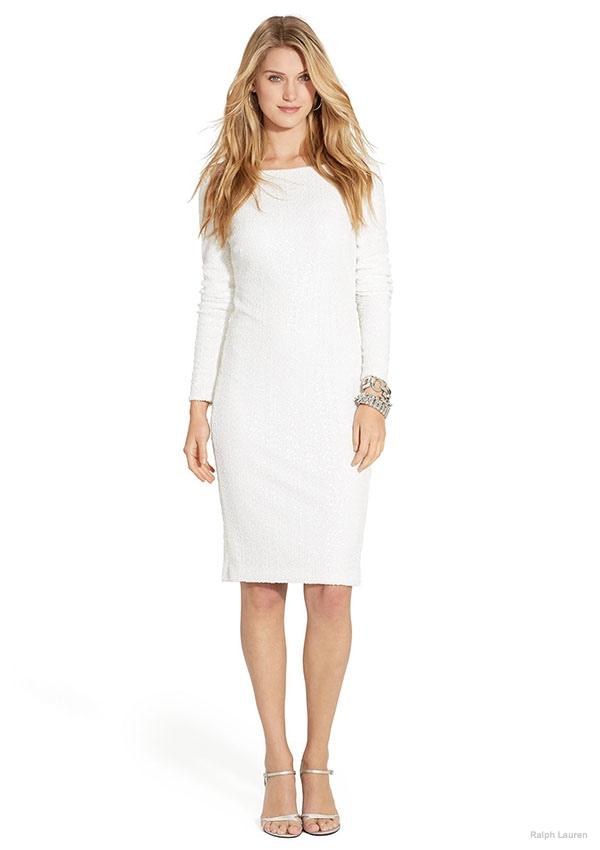 Lauren Ralph Lauren Sequined Long-Sleeve Dress available for $169.99