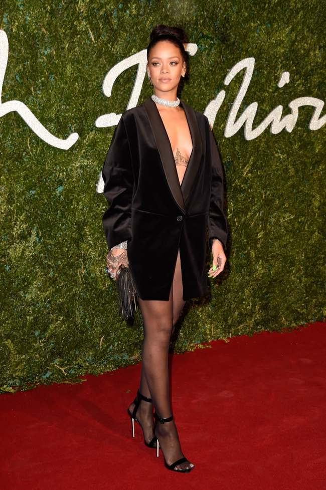 Rihanna Takes the Plunge in Stella McCartney Jacket at British Fashion Awards